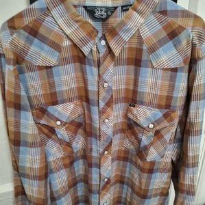Salt Valley Western mens l/s button down shirt